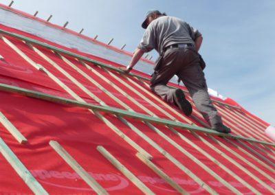 Installation d'une base pour une nouvelle toiture